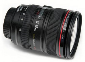 This popular lens comes with Canon 5D camera