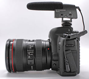 Canon 5D mark ii with external mic. Ready for video shooting