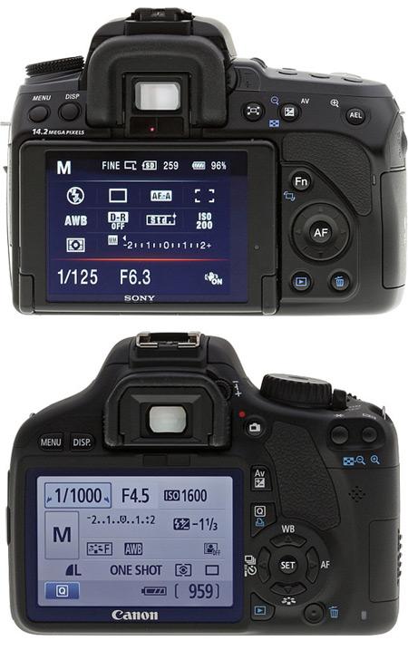 Sony A550 vs Canon T2i 550D