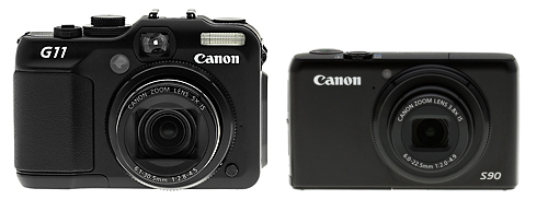 canon g11 and canon s90 side by side