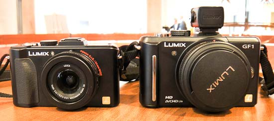 Side by side: panasonic LX5 (left) with Panasonic GF1 (right)
