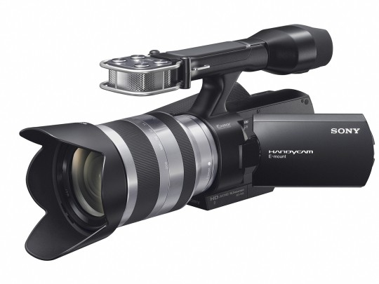 first sony interchangeable lens handycam