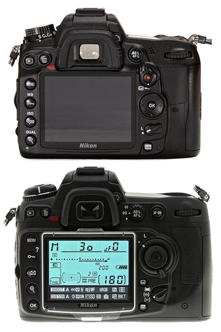 Nikon D7000 top, Nikon D300s below