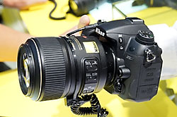 Nikon D7000 and 60mm f/2.8 macro lens, as shown in Photokina 2010