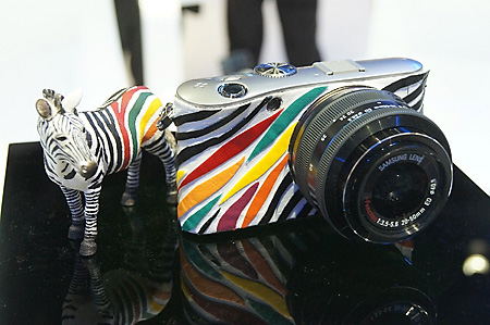 Samsung NX100 zebra version. Looks cute but is it a limited edition?