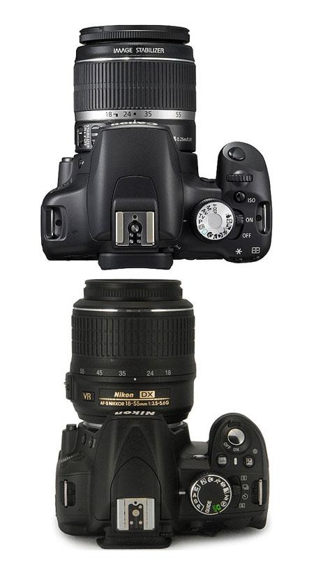 canon-t1i-vs-nikon-d3100-top