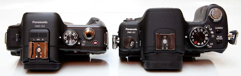 Panasonic G3 vs Panasonic GF2