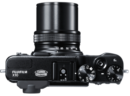 Fujifilm Finepix X10 with lens extended