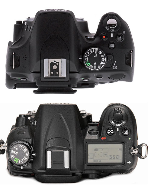 Nikon-5100-VS-Nikon-7000-Top