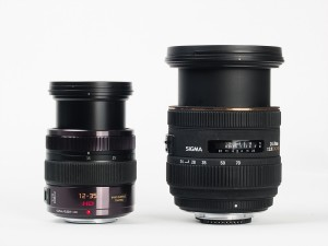 Compared to Sigma 24-70mm f/2.8, equivalent lens for full frame DSLR camera