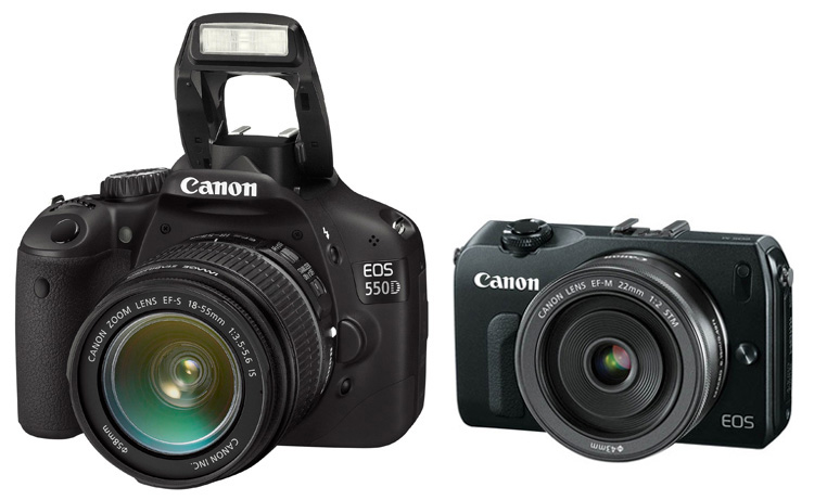 Canon EOS 550D/T2i compared to leaked Canon mirrorless picture