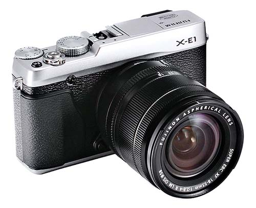Fuji X E-1 silver with 18-55mm f/2.8-4 zoom lens