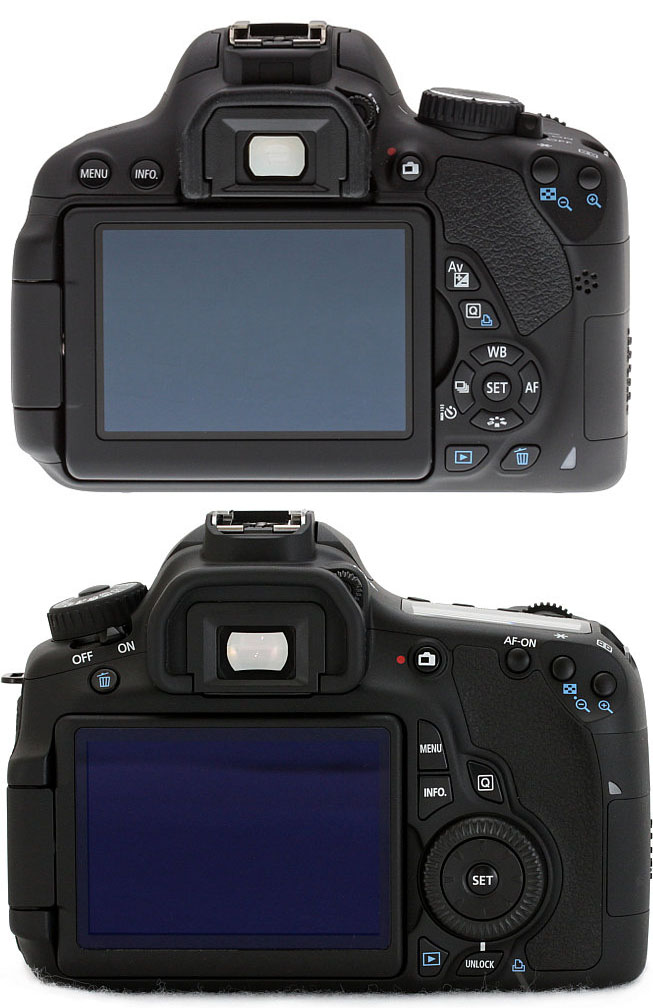 Top Bottom : Canon T4i/650D vs Canon 60D