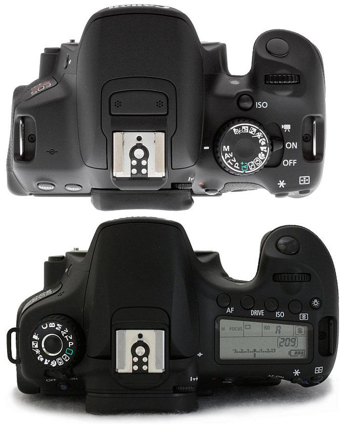 Top - Bottom : Canon T4i vs Canon 60D