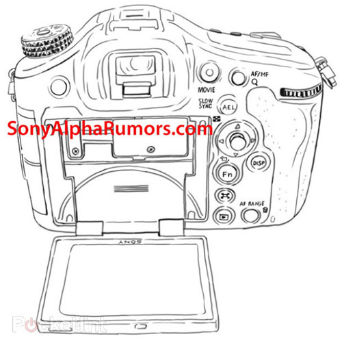 A99 sketch posted on Sony Alpha rumors