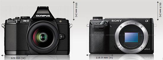 Left: Olympus OMD EM5, Right: Sony NEX 6