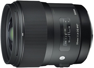 Sigma 35mm f/1.4 - very high quality fixed lens  which supassed its competitors