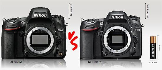 Left: Nikon D600, Right: Nikon D7100