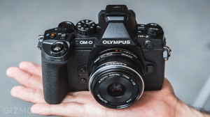 OMD EM1 is relatively compact, with 17mm f/1.8 lens - Photo from Gizmodo.com